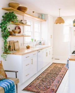 Open Concept Kitchen Shelving Over a Sink