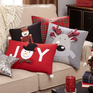 Christmas pillows on couch