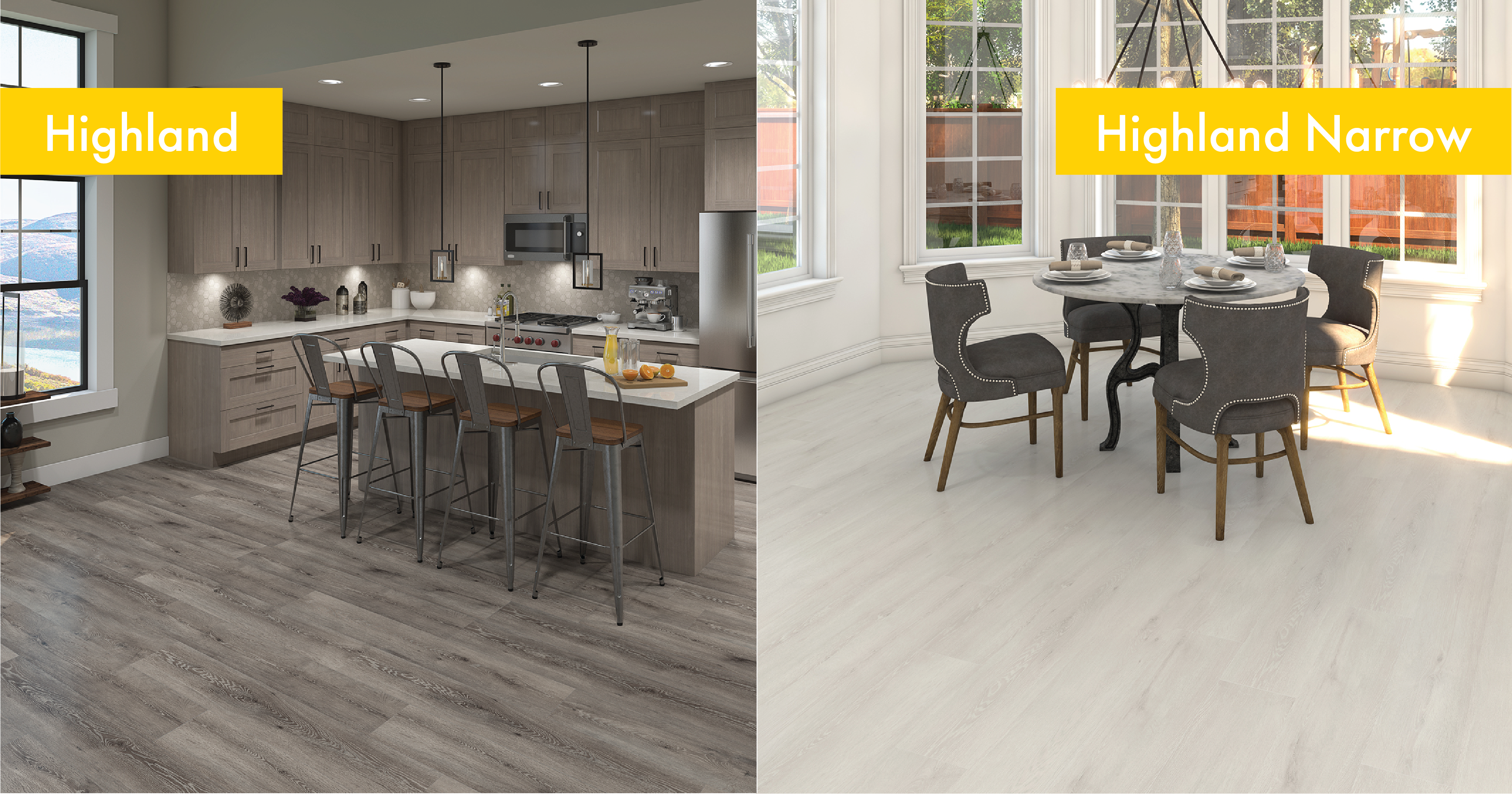 Kitchens featuring Highland and Highland Narrow Collections