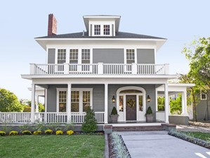House with good curb appeal